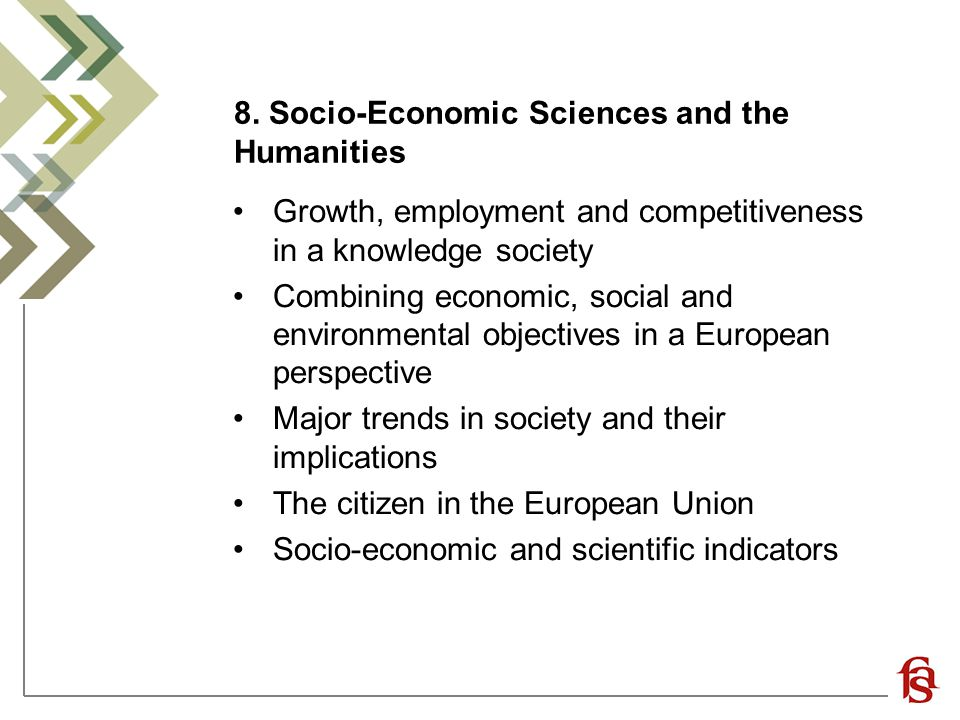 8. Socio-Economic Sciences and the Humanities