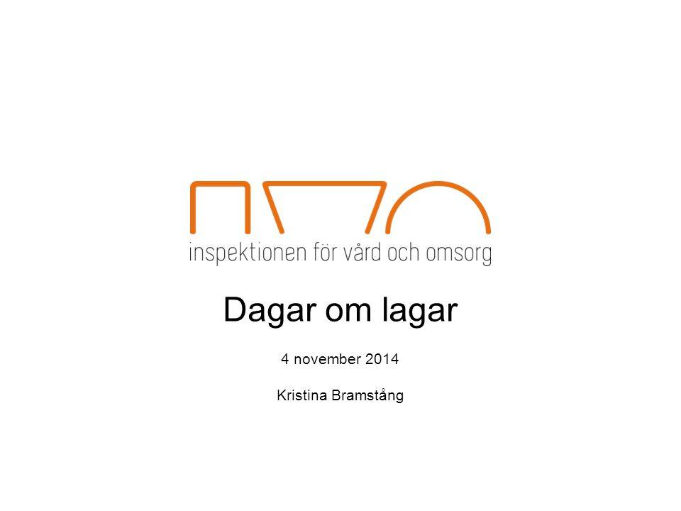 Dagar om lagar 4 november 2014 Kristina Bramstång