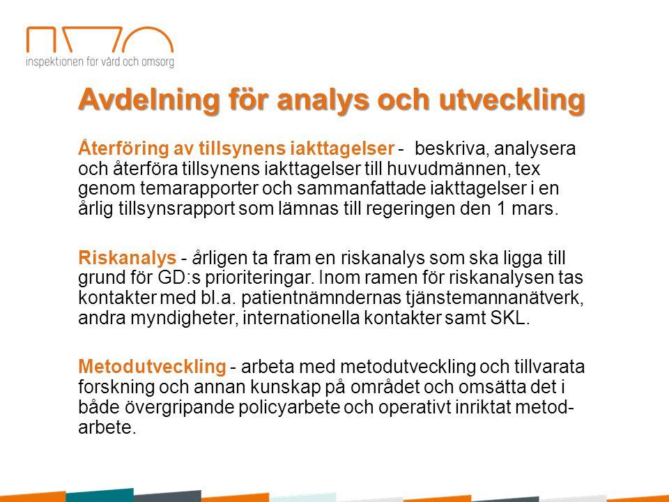 Avdelning för analys och utveckling