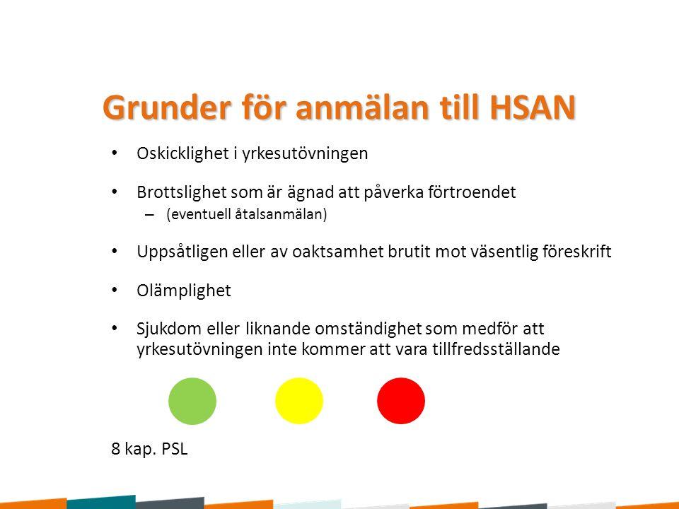 Grunder för anmälan till HSAN