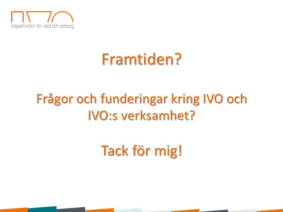 Framtiden. Frågor och funderingar kring IVO och IVO:s verksamhet