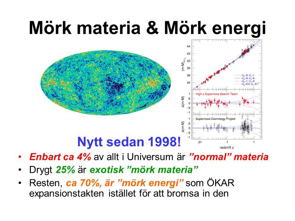 Mörk materia & Mörk energi