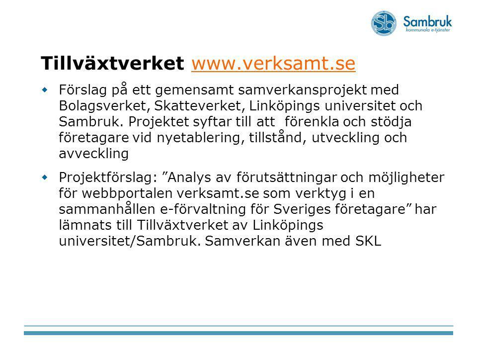 Tillväxtverket www.verksamt.se
