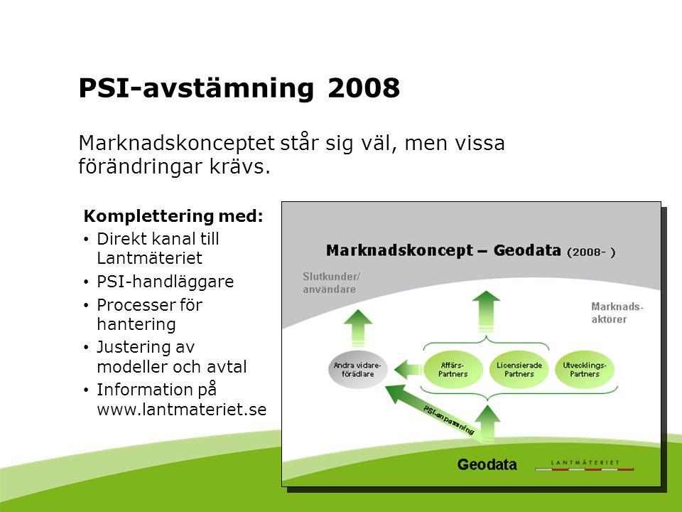 PSI-avstämning 2008 Marknadskonceptet står sig väl, men vissa förändringar krävs. Komplettering med: