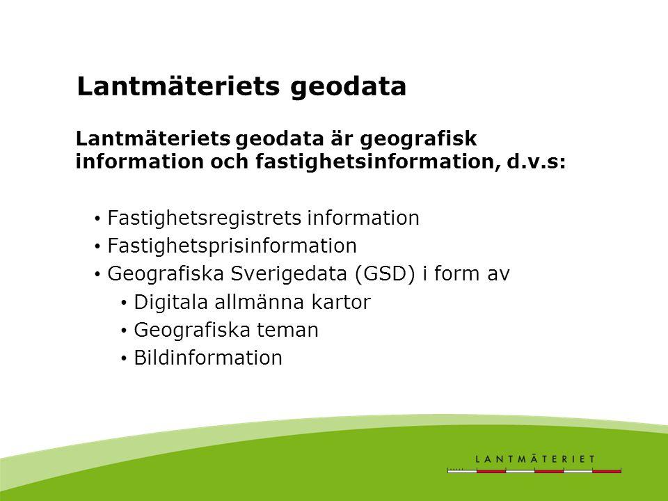 Lantmäteriets geodata