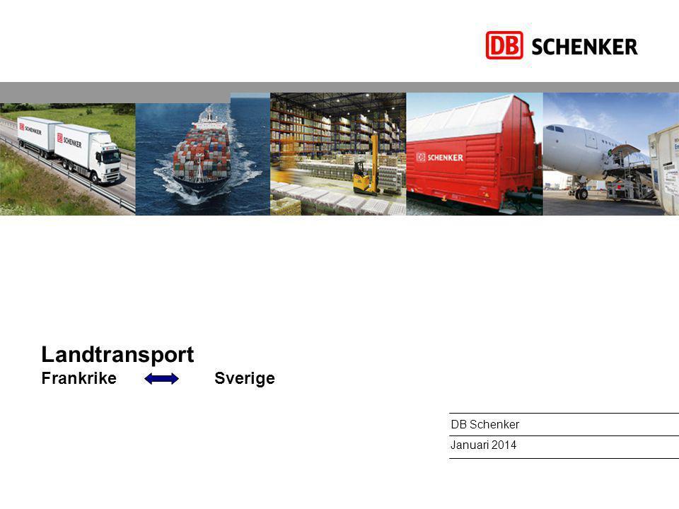Landtransport Frankrike Sverige