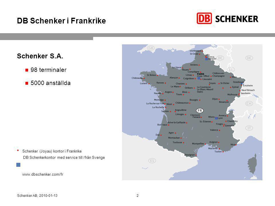 DB Schenker i Frankrike