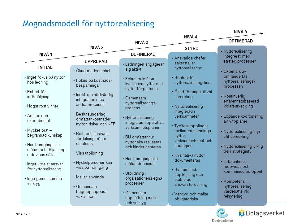 Mognadsmodell för nyttorealisering