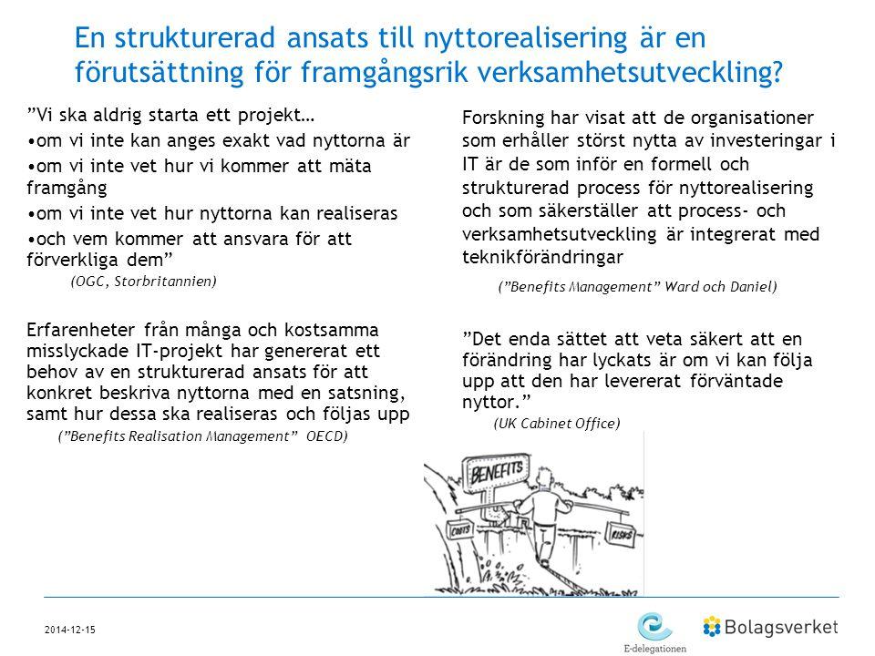 En strukturerad ansats till nyttorealisering är en förutsättning för framgångsrik verksamhetsutveckling