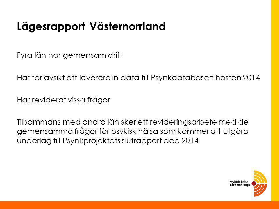 Lägesrapport Västernorrland