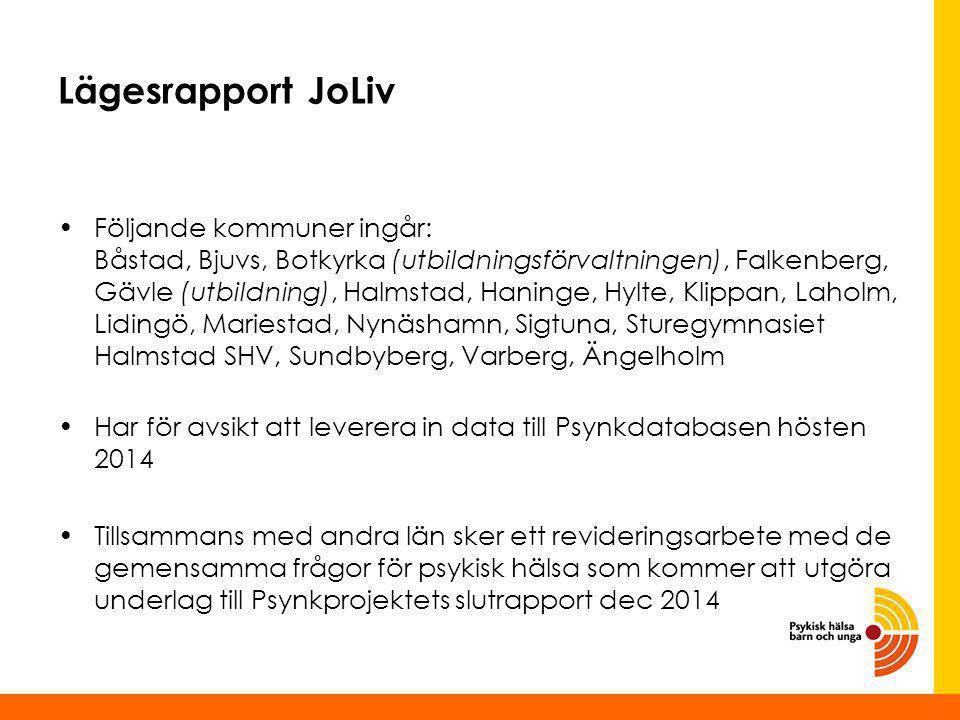 Lägesrapport JoLiv