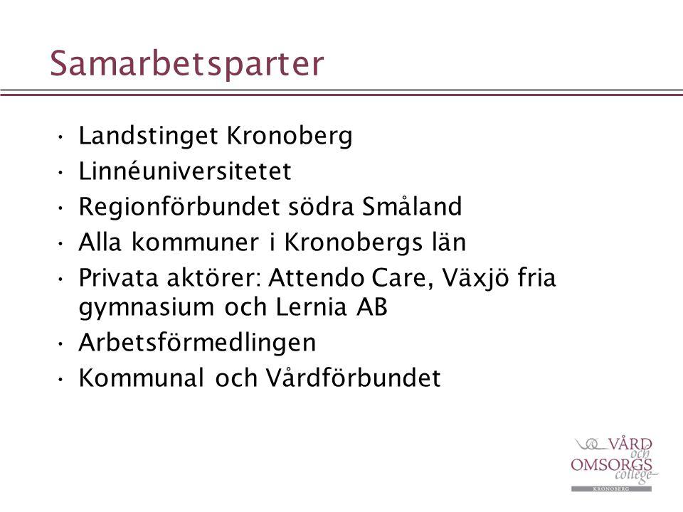 Samarbetsparter Landstinget Kronoberg Linnéuniversitetet