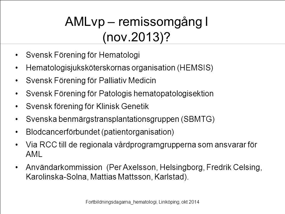 AMLvp – remissomgång I (nov.2013)