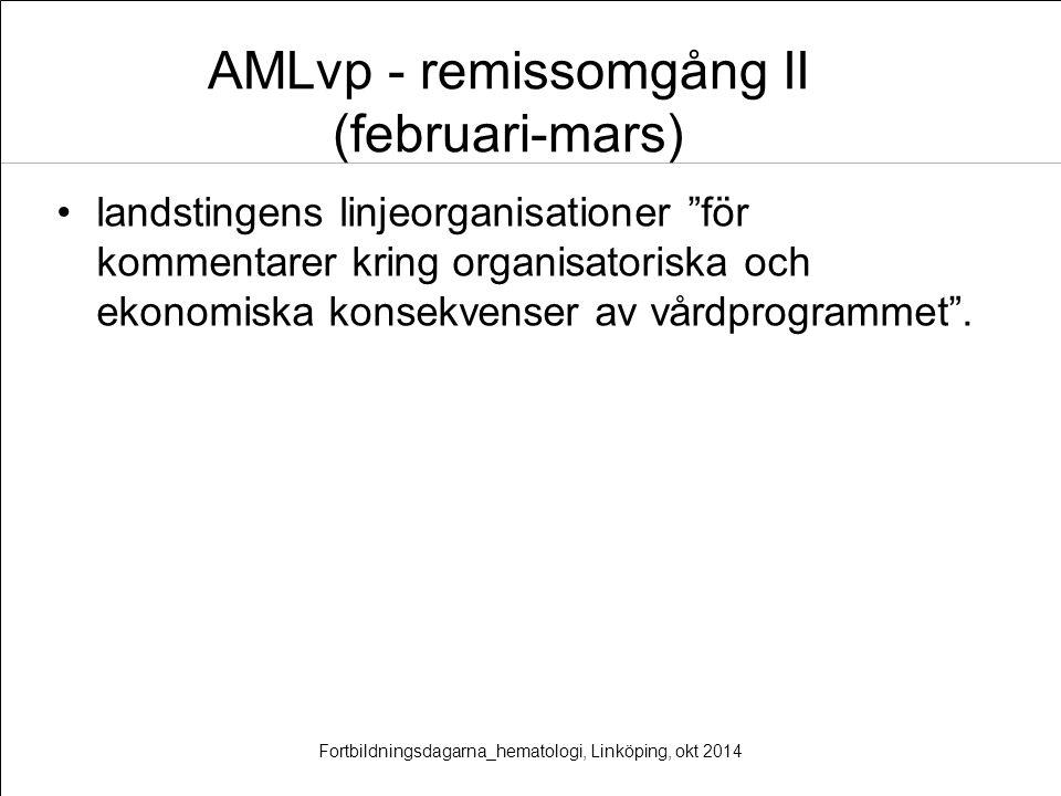 AMLvp - remissomgång II (februari-mars)