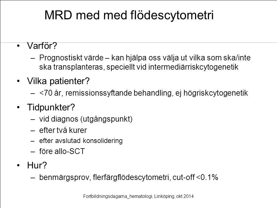 MRD med med flödescytometri