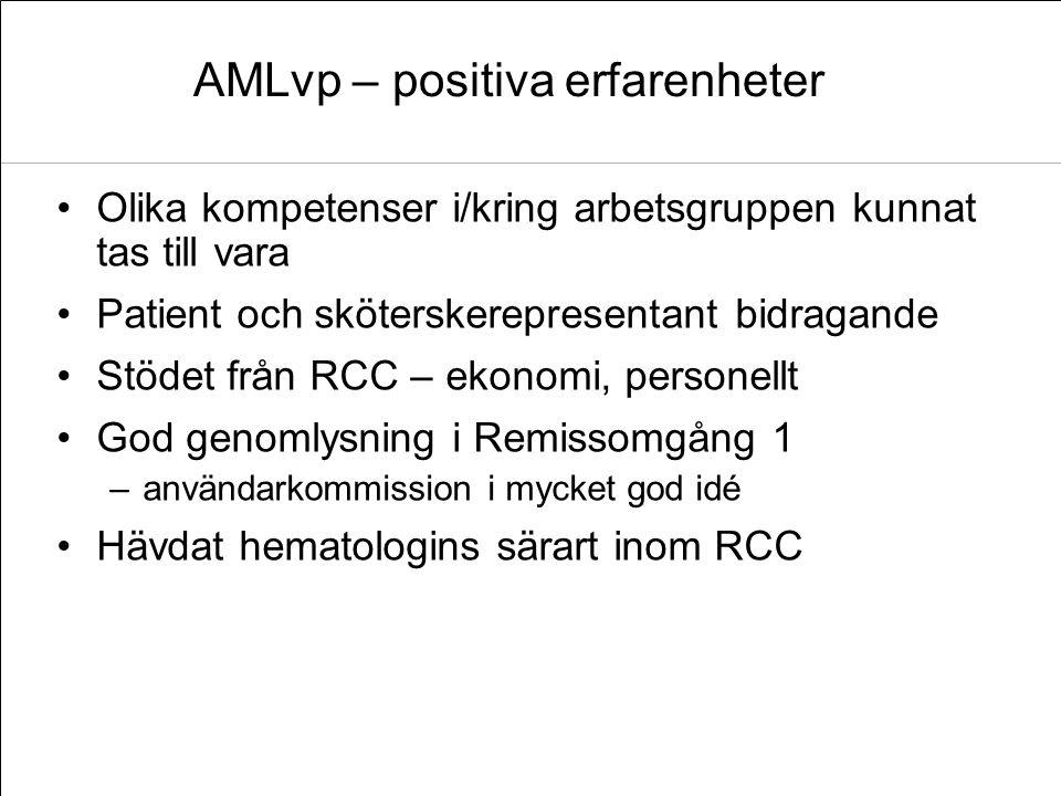 AMLvp – positiva erfarenheter