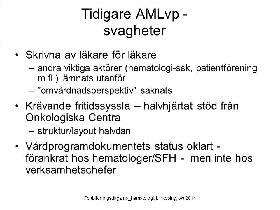 Tidigare AMLvp - svagheter