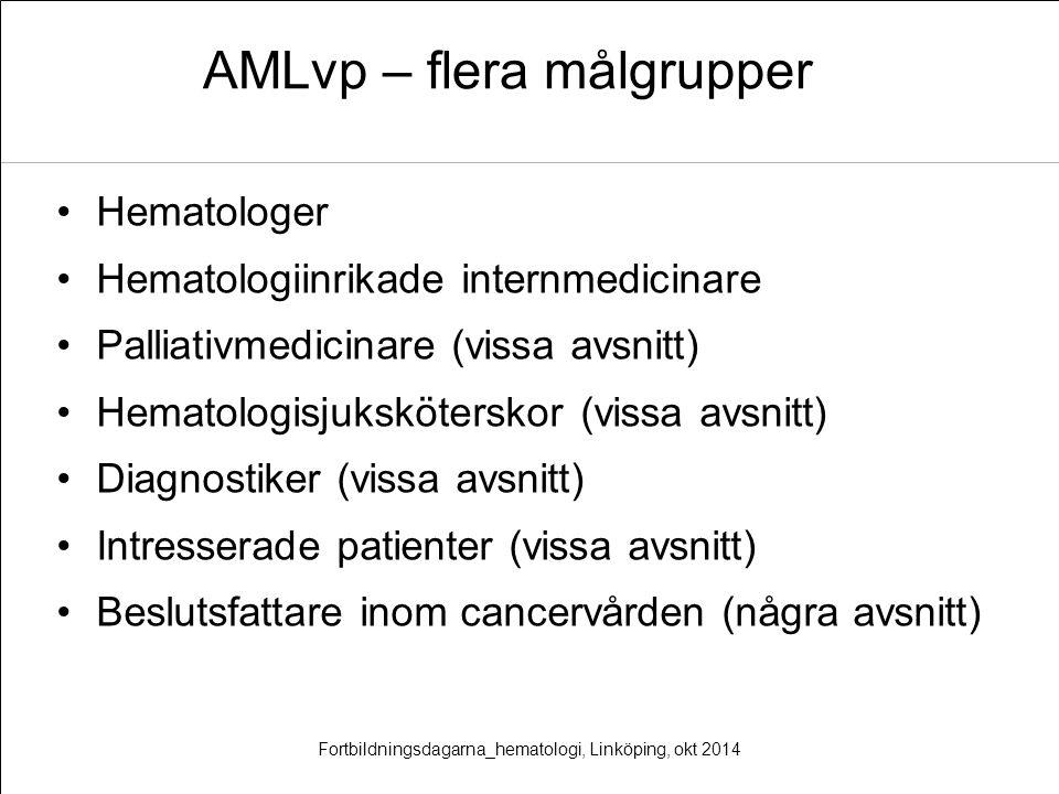AMLvp – flera målgrupper