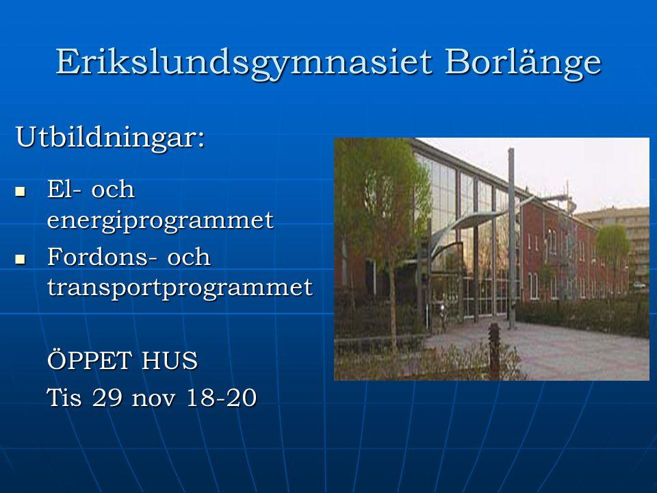 Erikslundsgymnasiet Borlänge