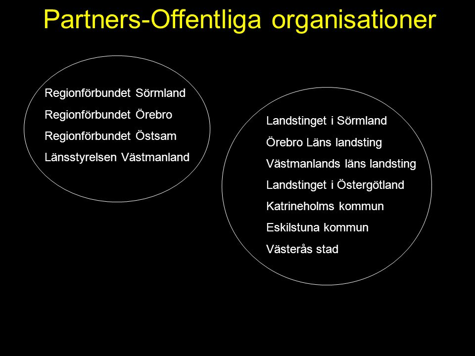 Partners-Offentliga organisationer