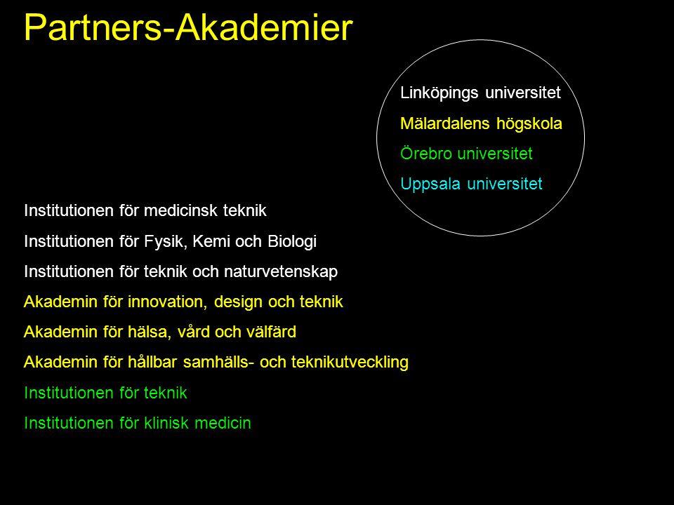 Partners-Akademier Linköpings universitet Mälardalens högskola