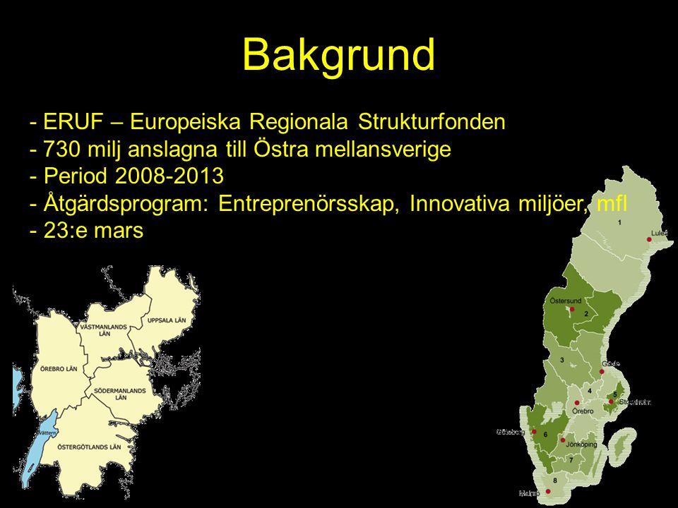 Bakgrund - ERUF – Europeiska Regionala Strukturfonden