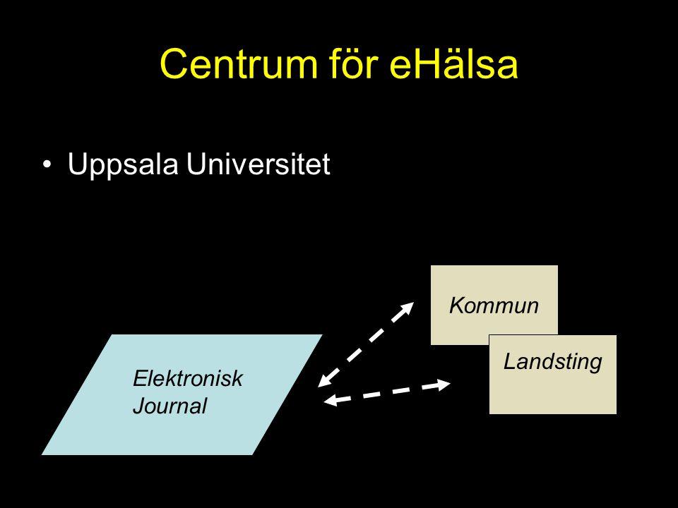 Centrum för eHälsa Uppsala Universitet Kommun Landsting Elektronisk