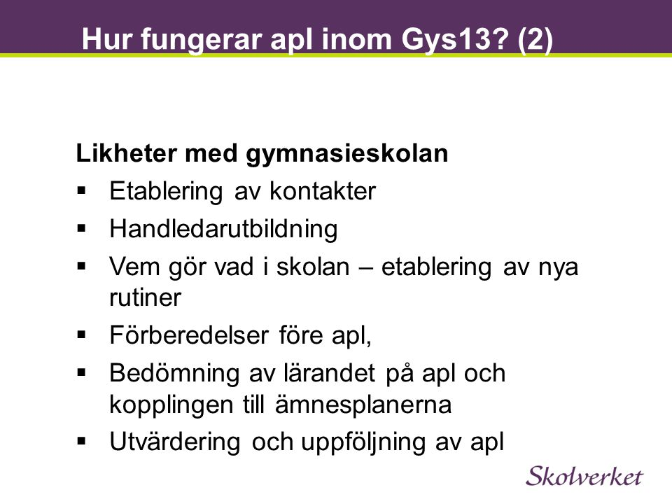 Hur fungerar apl inom Gys13 (2)