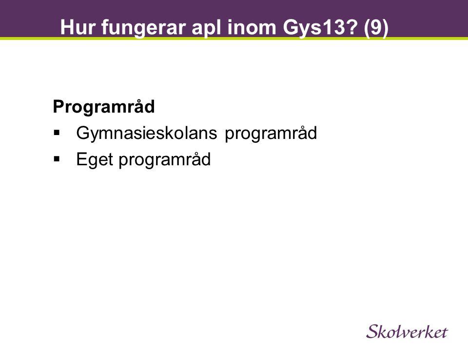 Hur fungerar apl inom Gys13 (9)
