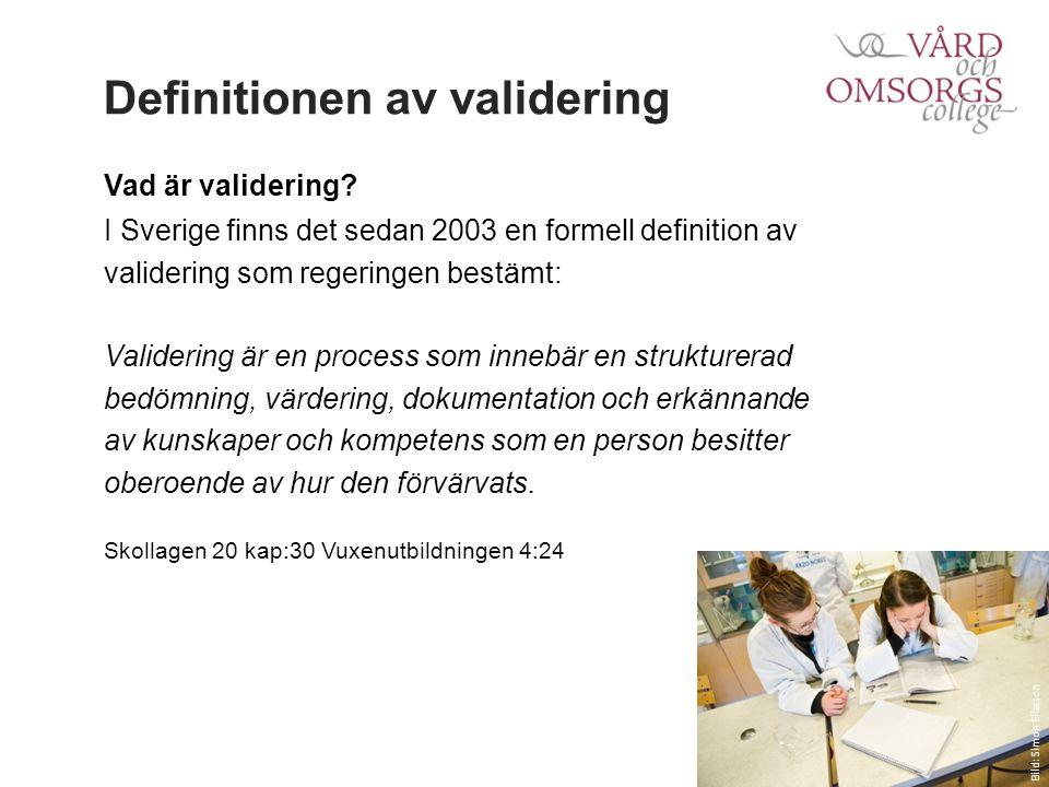 Definitionen av validering