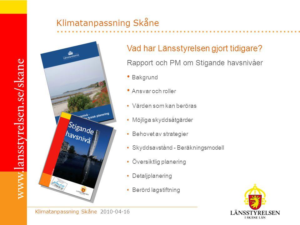 Klimatanpassning Skåne
