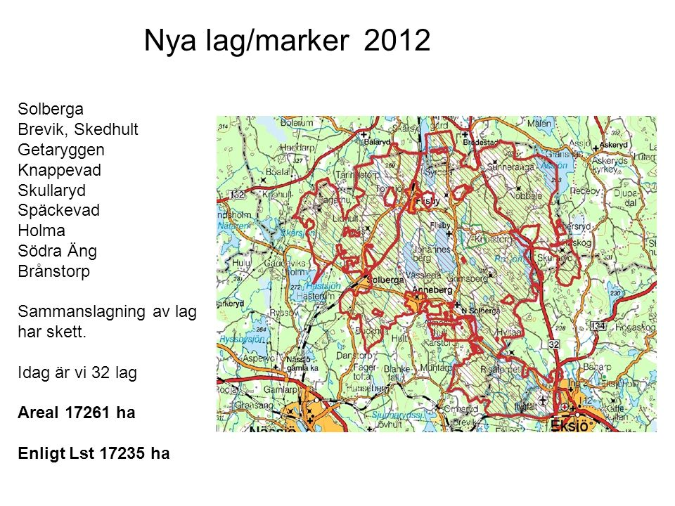 Nya lag/marker 2012 Solberga Brevik, Skedhult Getaryggen Knappevad