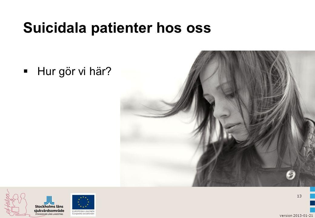 Suicidala patienter hos oss