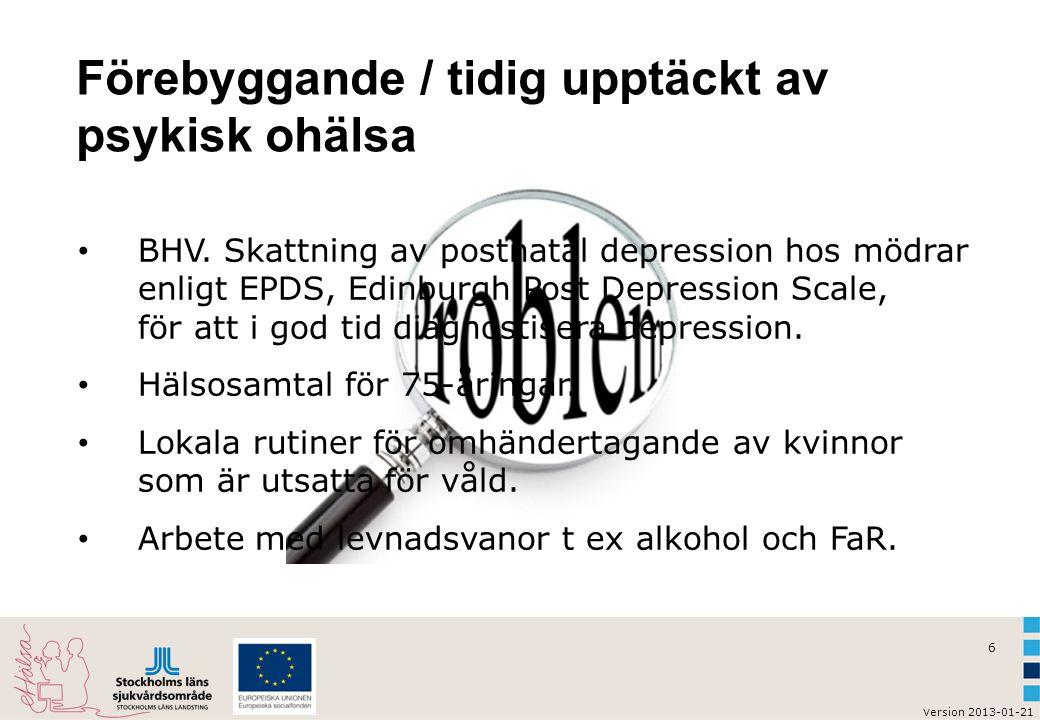 Förebyggande / tidig upptäckt av psykisk ohälsa