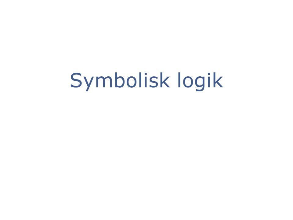 Symbolisk logik 1