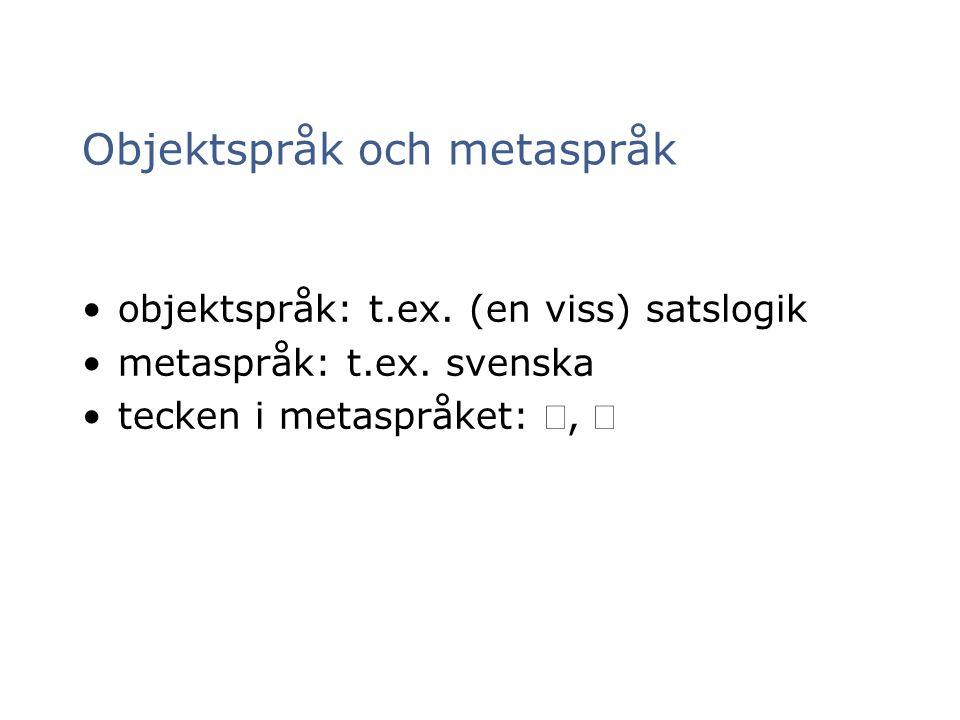 Objektspråk och metaspråk