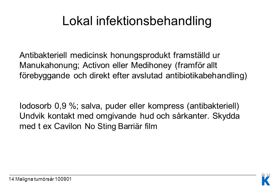 Lokal infektionsbehandling