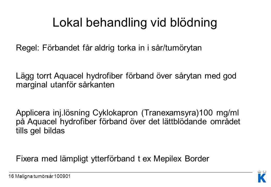 Lokal behandling vid blödning