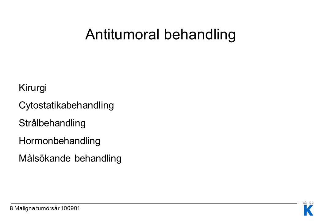 Antitumoral behandling