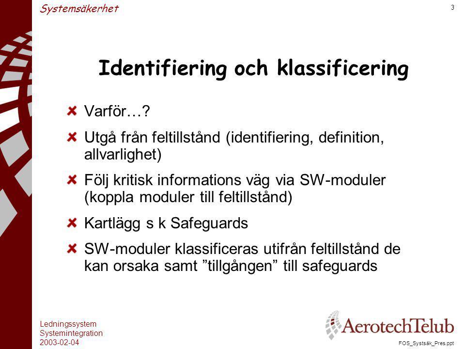 Identifiering och klassificering