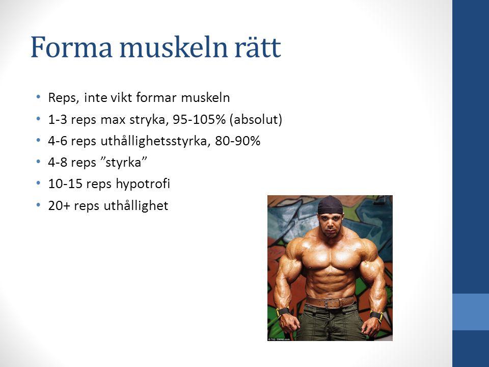 Forma muskeln rätt Reps, inte vikt formar muskeln