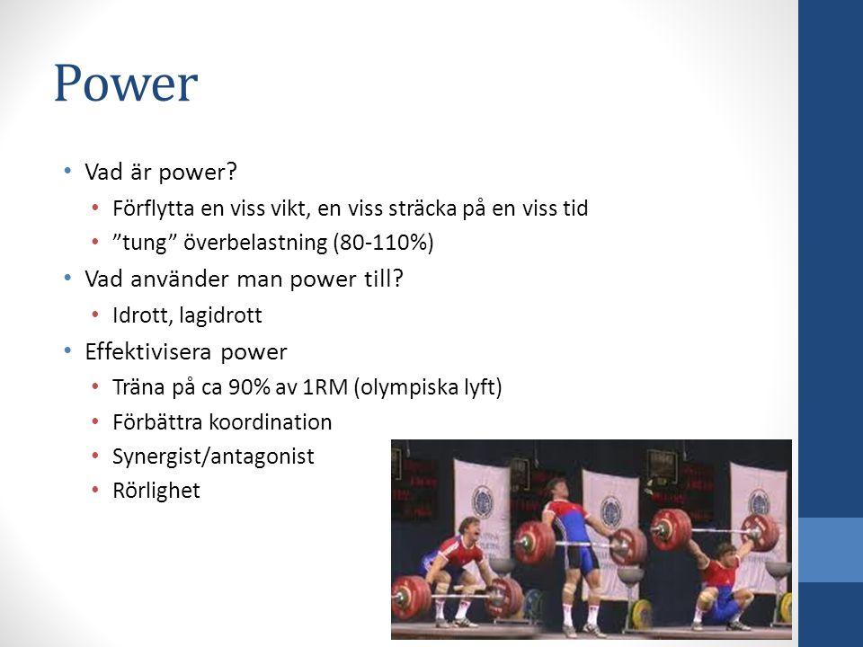 Power Vad är power Vad använder man power till Effektivisera power
