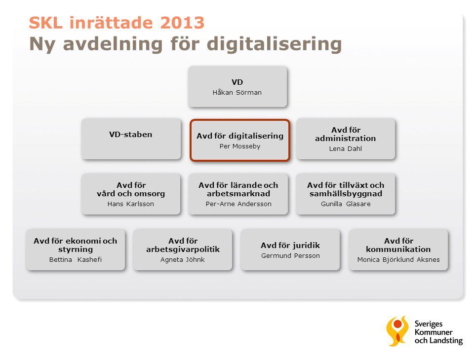 Ny avdelning för digitalisering