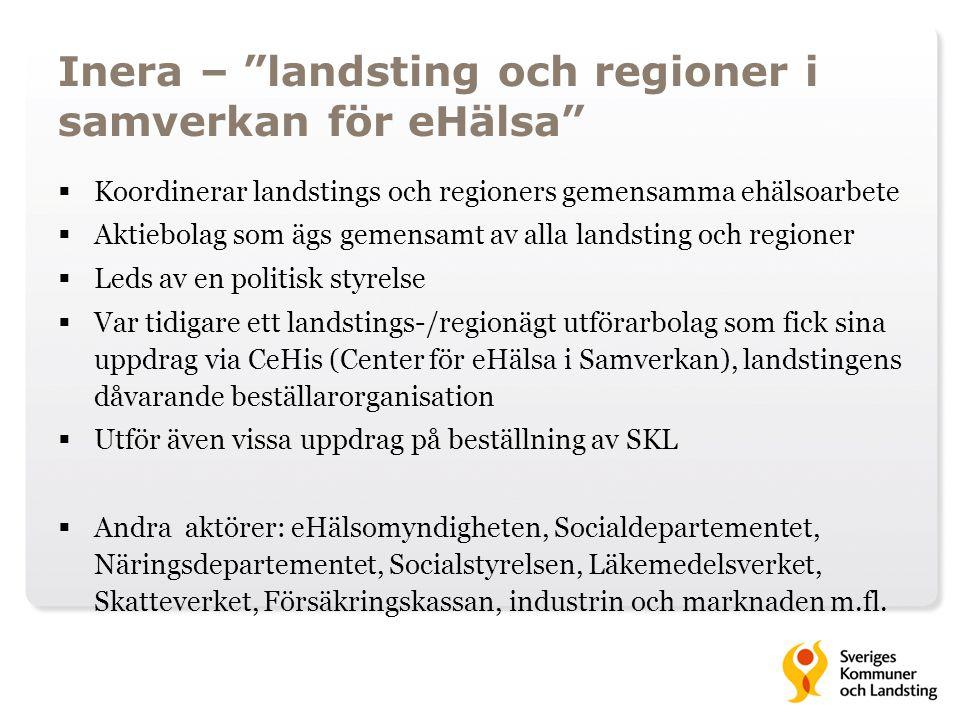 Inera – landsting och regioner i samverkan för eHälsa