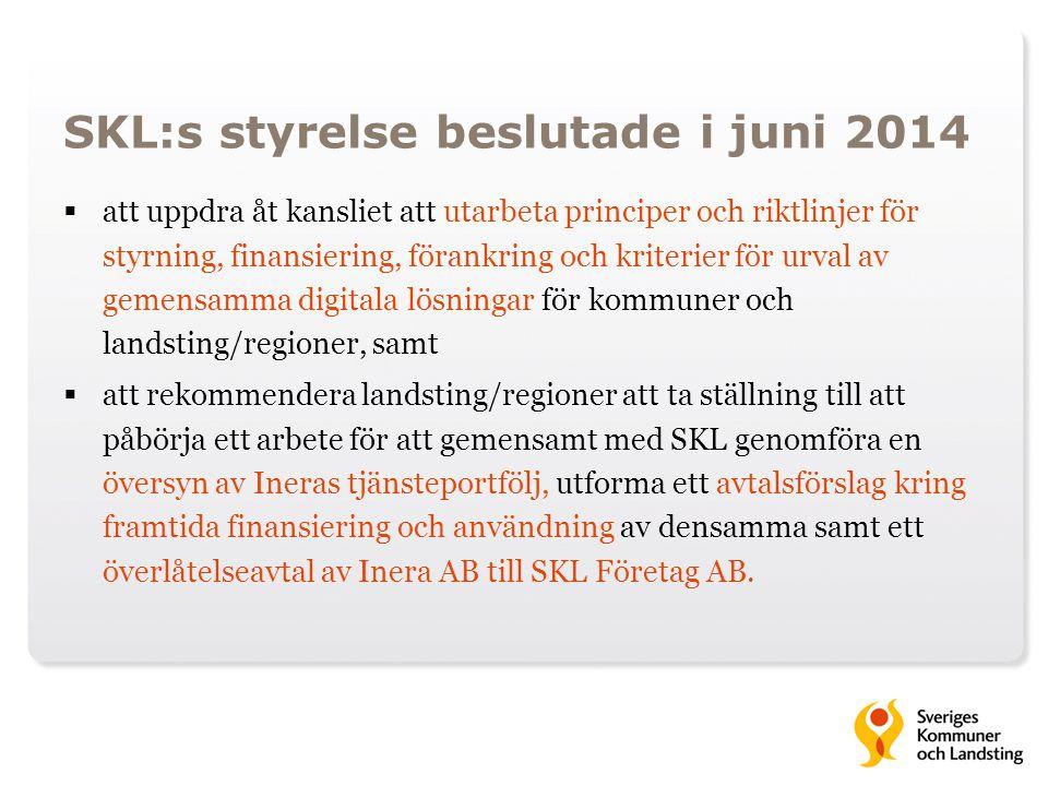 SKL:s styrelse beslutade i juni 2014