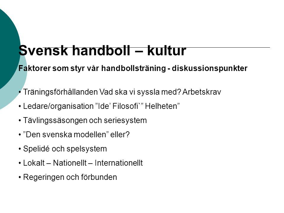 Svensk handboll – kultur
