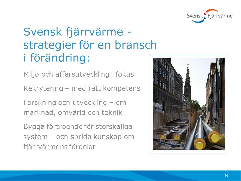 Svensk fjärrvärme - strategier för en bransch i förändring: