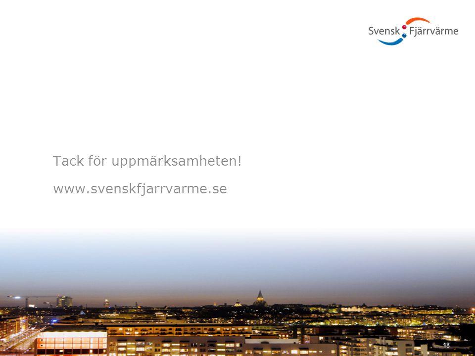 Tack för uppmärksamheten! www.svenskfjarrvarme.se