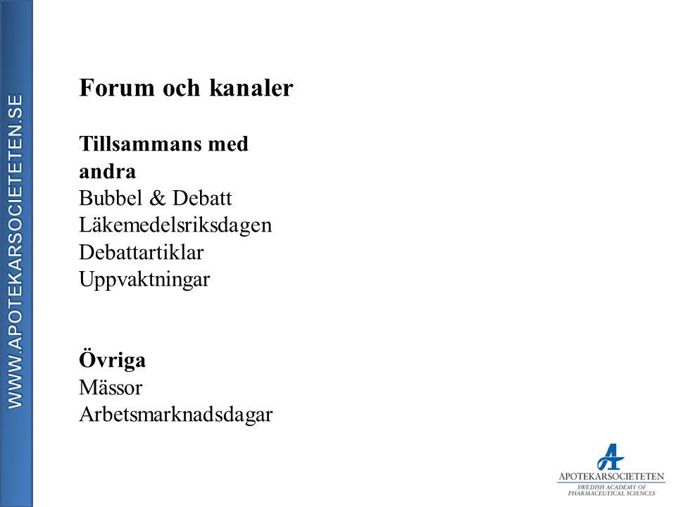 Forum och kanaler Tillsammans med andra Bubbel & Debatt