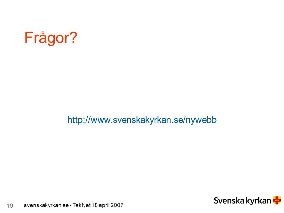 Frågor http://www.svenskakyrkan.se/nywebb